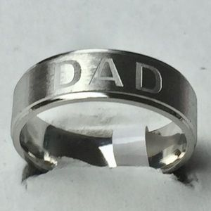 Sz 13 Stainless Steel Dad Ring